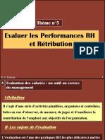 Thème n5 Reconnaitre Les Performances Et Retributions