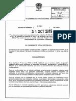 Decreto 1983 Del 31 de Octubre de 2019