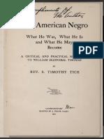 Révérend S. Timothy Tice_Réplique à William Hannibal Thomas 1901