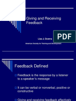 Effective Listening 10 - Giving and Receiving Feedback