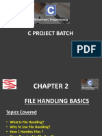 Advance C Project Chapter 2 (Introduction to File Handling in C-Part 1)
