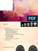 development of dental occlusion