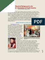 - Background to English Settlement & Colonization