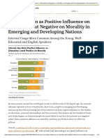 Internet Seen as Positive Influence on Education but Negative on Morality in Emerging and Developing Nations _ Pew Research Center