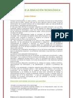 DIDÁCTICA DE L AEDUCACIÓN TECNOLÓGICA