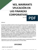 Opciones y  su aplicación en las Finanzas Corporativas.pptx