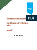 Clase 12 Aplicaciones Transformadas Laplace 2019_2 Lab