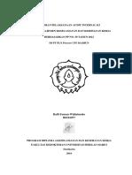 Laporan Pelaksanaan Audit Internal k3