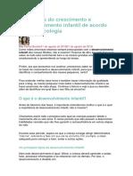 As 5 Fases Do Crescimento e Desenvolvimento Infantil de Acordo Com a Psicologia