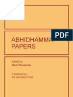 Abhidhamma Papers Final