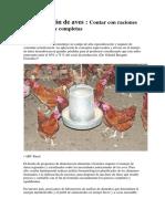 Alimentacion de aves
