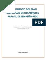 Instructivo de Seguimiento Al PIDD