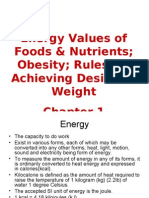 Chap1-Energy Values of Foods & Nutrients
