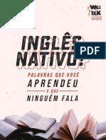 eBook Ingls Nativo Palavras Que Voc Aprendeu e Que Ningum Fala