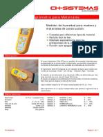 CHH 075 Higrometro Para Materiales
