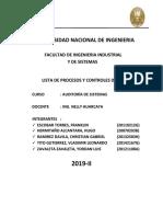 Lista de Procesos y Controles de Cobit