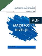 Maestros Nivel III