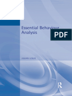 Essential Behaviour Analysis - Julian Leslie