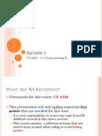 Review 1 C++ Programming 2