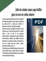Deposito de  oxido de estaño como capa buffer.pptx