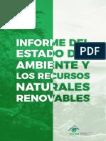 Informe Del Estado Del Ambiente y Los Recursos Naturales Renovables.
