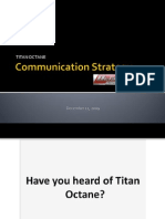 Titan Octane Comm Strategy 2009