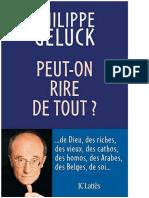 Philippe Geluck - Peut-On Rire de Tout