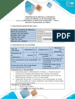 Guía Fase 1 Servicio comunitariro en salud