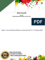 70-741 Actual Exam Dumps, Pass4sure Microsoft practice Test - 2019
