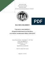 """""""Una nueva causa histórica"""". El legado institucional de la Dictadura en el debate constitucional chileno (1990-2015)"""