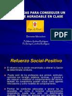 ESTRATEGIAS PARA CONSEGUIR UN AMBIENTE AGRADABLE EN CLASE.ppt