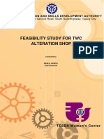 Feasibility Study for Twc  Alteration Shop