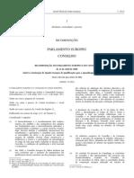 Recomendacao Do Parlamento Europeu e Do Conselho 23 Abril 2008