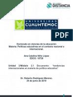 2.1 Olítica Educativa, Tendencias.ana NIÑO