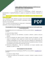 PROCEDIMENTOS PARA VERSÃO-REVISÃO 2018 Artigos cientificos Daniela.doc