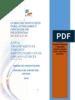 Etica,Transparencia y Regimen Disciplinario