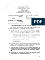 Motion for Execution (Civ. Aspect)
