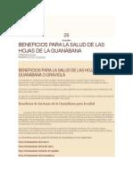 Beneficios de Las Hojas de Guanabanas