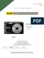 Cámara Digital Compacta COOLPIX A100 de Nikon