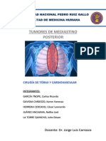 Tumores de Mediastino Posterior