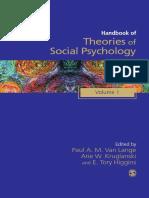404095118 SAGE Social Psychology Program Paul a M Van Lange Arie W Kruglanski E Tory Higgins Handbook of Theories of Social Psychology Volume One SAGE 1 200