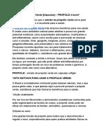 Extrato de Própolis Verde [Cápsulas] – PROPOLIZ é Bom?