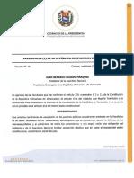 Decreto No. 15. Junta Administradora Ad-Hoc del Banco de Desarrollo Econòmico y Social de Venezuela (Bandes)