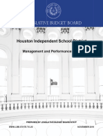 Houston ISD Performance Review
