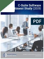 2019 C-Suite Software Sentiment Study (Preview)