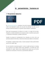 15 TIPOS DE PENSAMIENTO