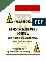 Charla Técnica - Inspección Radiográfica Industrial