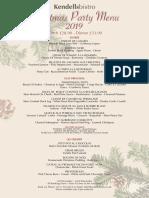 PDF Xmas Party Menu 2019