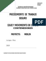 Procedimiento Izaje Movimiento de Cargas (Contenedores) 2019 II