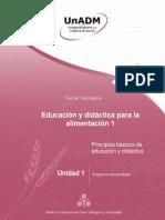 educación y didactica para la alimentación